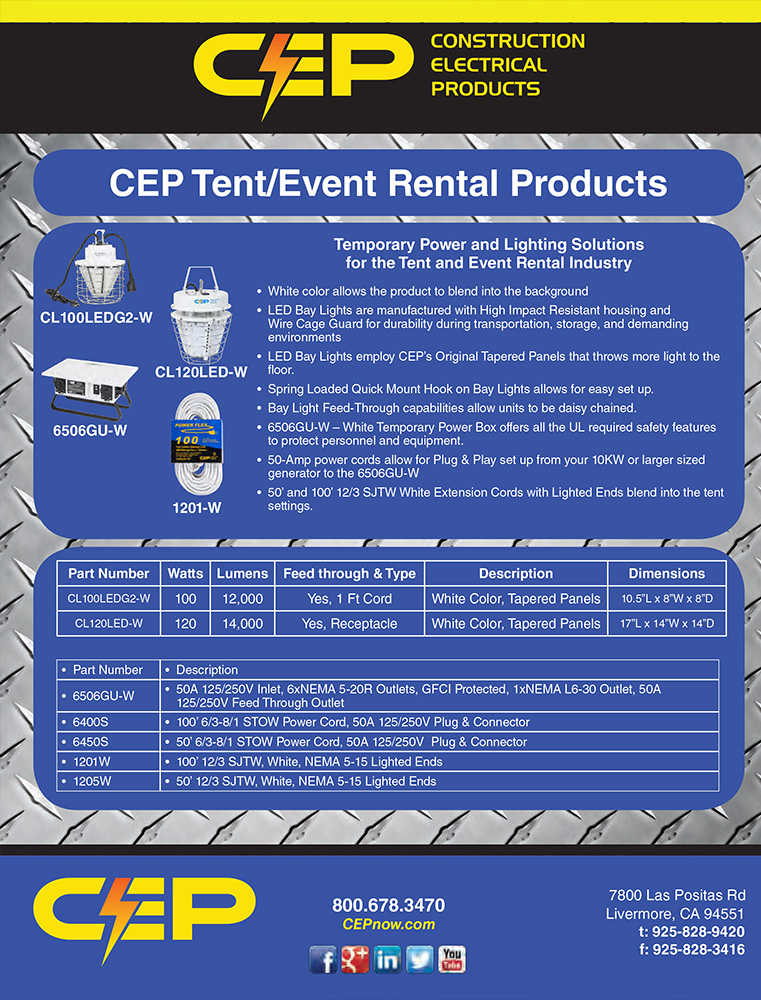 Download our Events and Tent Rental Brochure